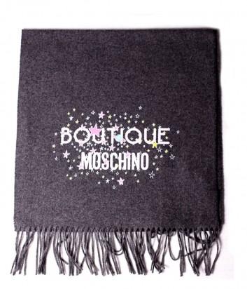 Теплый женский шарф Moschino Boutique 30587 серый