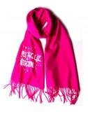 Теплый женский шарф Moschino Boutique 30587 розовый