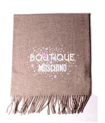 Теплый женский шарф Moschino Boutique 30587 кофейный