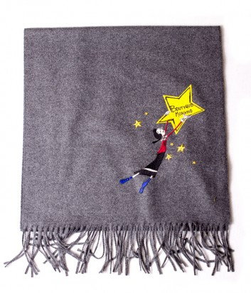 Теплый женский шарф Moschino Boutique 30589 серый