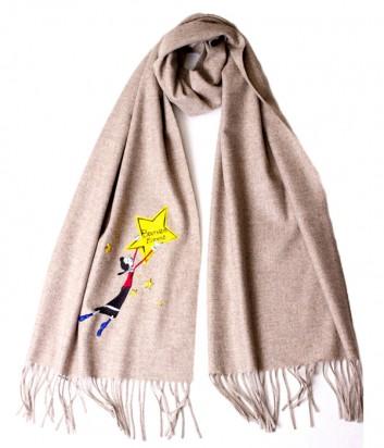Теплый женский шарф Moschino Boutique 30589 коричневый
