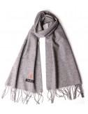 Теплый шарф Moschino 50103 из шерсти мериноса серый