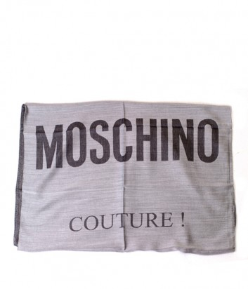 Женский шарф Moschino 30573 с надписями серый
