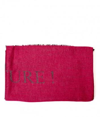 Женский шарф Moschino 30573 с надписями бордовый