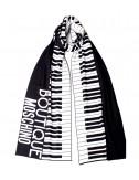 Шарф Moschino Boutique 30582 черно-белый