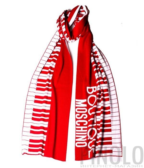 Шарф Moschino Boutique 30582 красный