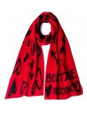 Женский шарф Moschino Boutique 30598 красно-черный с рисунком