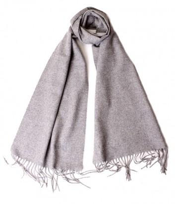 Теплый мужской шарф Moschino 50092 из шерсти мериноса серый