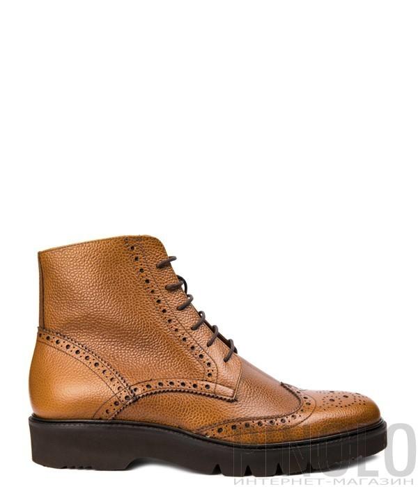 Мужские кожаные ботинки Roberto Botticelli 7901 рыжие