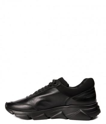 Мужские кожаные кроссовки Roberto Botticelli 37160 черные