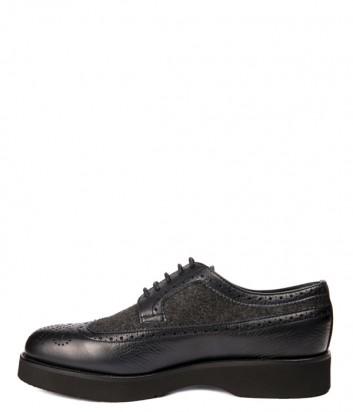 Мужские кожаные туфли Baldinini 946206 черные