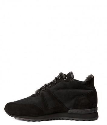 Черные замшевые кроссовки Baldinini 947429 на меху