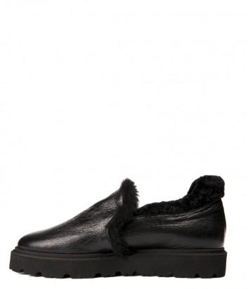 Черные кожаные ботинки Baldinini 948285 на меху