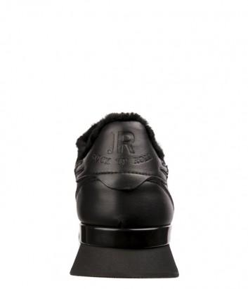Черные кожаные кроссовки John Richmond 5904 с мехом внутри