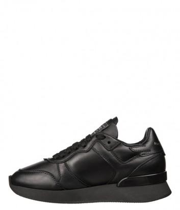 Женские кожаные кроссовки John Richmond 5929 черные