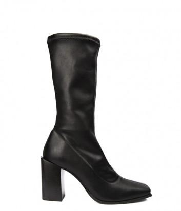 Черные кожаные полусапоги Fru.it 5132 с квадратным носком