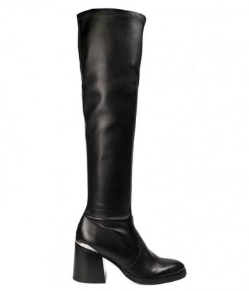 Черные кожаные сапоги Fru.it 5000M с эластичным голенищем