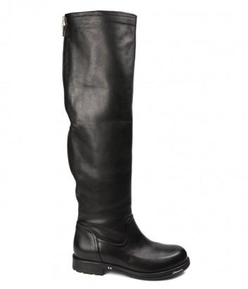 Черные кожаные сапоги Fru.it 4705 с молнией сзади