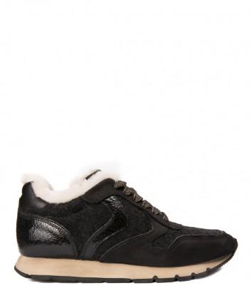Черные женские кроссовки Voile Blanche 2012782 на меху