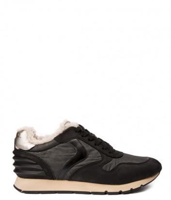 Замшевые мужские кроссовки Voile Blanche 2013088 с мехом черные