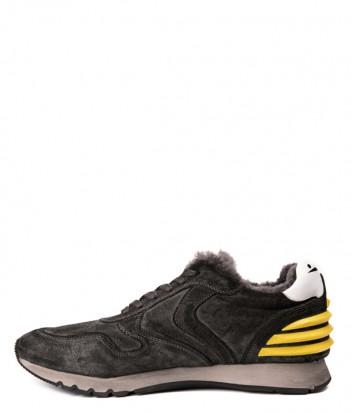 Замшевые мужские кроссовки Voile Blanche 2013088 с мехом серые