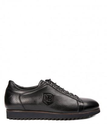 Кожаные мужские туфли Mario Bruni 61671 черные