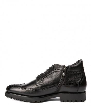 Черные кожаные ботинки Mario Bruni 11734 на меху