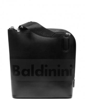 Кожаная сумка через плечо Baldinini 450012 с надписью бренда