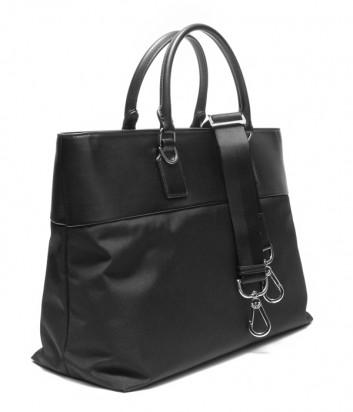 Деловая мужская сумка Baldinini 440032 с отделением для планшета черная