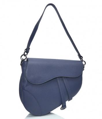 Кожаная сумка-седло Leather Country 3893347 синяя