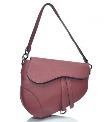 Кожаная сумка-седло Leather Country 3893347 красная