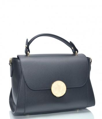 Черная кожаная сумка Leather Country 3893328 с откидным клапаном