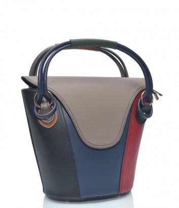 Цветная кожаная сумка Leather Country 4092446 с короткими ручками