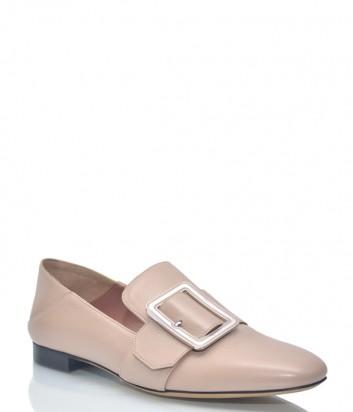Нюдовые туфли-мюли Bally 9858 с загибающимся задником