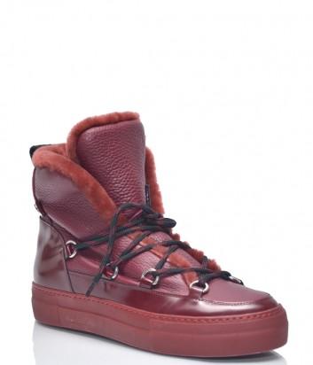 Красные кожаные ботинки ICEBERG 25 с мехом
