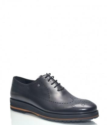 Черные туфли Roberto Serpentini 28707 в гладкой коже с перфорацией