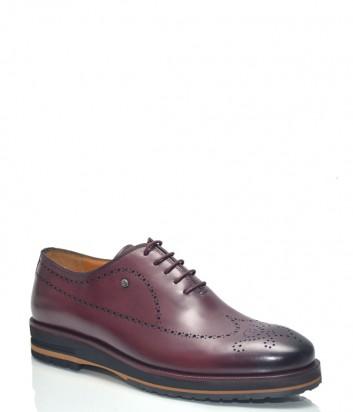 Бордовые туфли Roberto Serpentini 28707 в гладкой коже с перфорацией