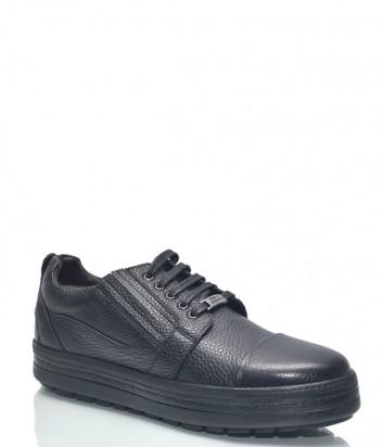 Черные кожаные туфли Roberto Serpentini 1417 на танкетке