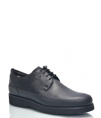 Мужские кожаные туфли Roberto Serpentini 23900 на танкетке черные