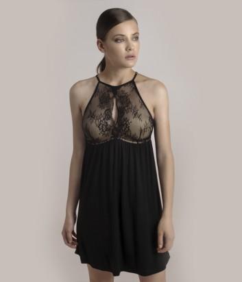 b6f686197df Черная сорочка Gisela 0189 с кружевными вставками - купить в ...