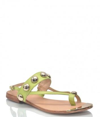 Салатовые кожаные сандалии Liu Jo 9943 с декором