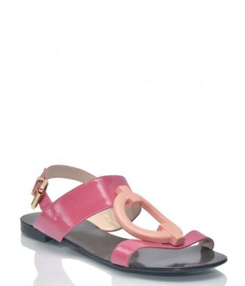 Лаковые кожаные сандалии Renzi 9461 розовые