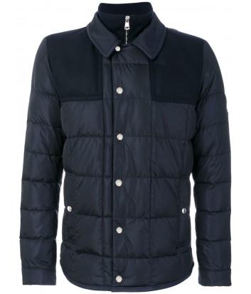 Черная шерстяная куртка Moncler Clovis на пуху