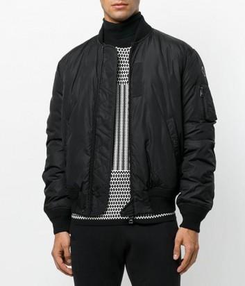 Черная куртка Moncler Allix на молнии с боковыми карманами