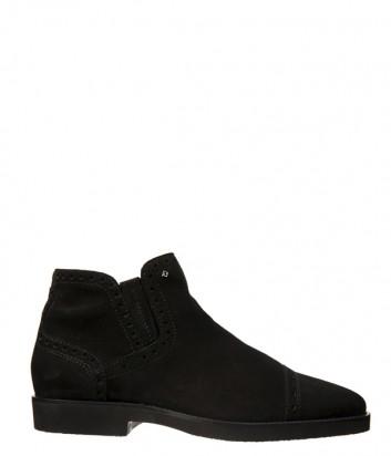 Черные замшевые ботинки Luca Guerrini 9819 на меху