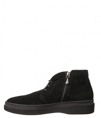 Замшевые ботинки Luca Guerrini 9751 на меху черные