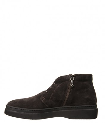 Замшевые ботинки Luca Guerrini 9751 на меху коричневые