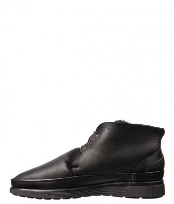 Черные кожаные ботинки Luca Guerrini 9748 на меху