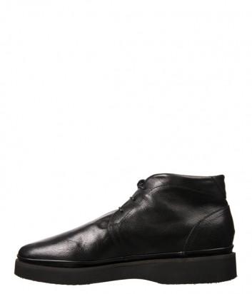 Черные кожаные ботинки Luca Guerrini 9695 на меху