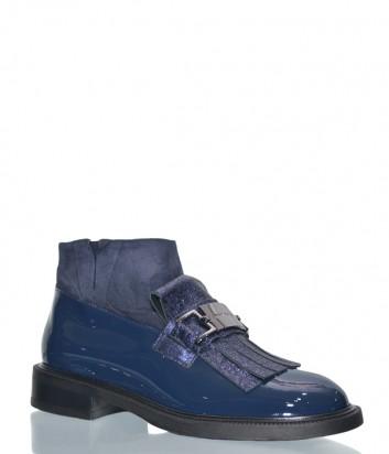 Женские лаковые ботинки Loretta Pettinari 14847 синие
